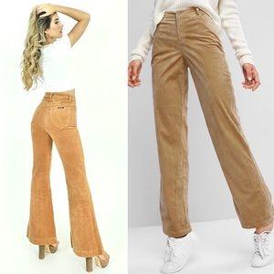 Vintage Aeropostale Tan Corduroy Bootcut Pants